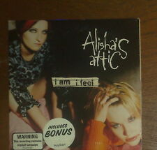 "ALISHA'S ATTIC ""I Am I Feel"" CD 1996 MINI POSTER 1990s pop single"