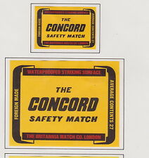 Anciennes étiquettes allumettes Royaume Uni BN19877 The Concord