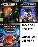 PS3 Minecraft PS3 Story Mode Assorted Games Mint Super Fast Delivery