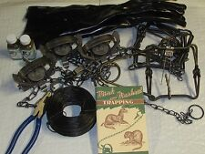 12 piece mink & muskrat Trapping Package kit New sale animal control
