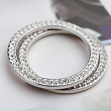 Arrival Car Bling Decorative Accessories Button Start Switch Silver Diamond Ring