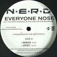 """N.E.R.D. """"EVERYONE NOSE / SPAZ"""" 2008 VINYL 12"""" PROMO 4 TRACKS ~RARE~ *SEALED*"""