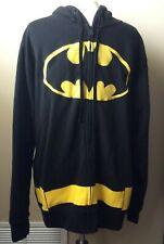 Men's Batman Zip Up Hoodie Sweatshirt With Bat Ears