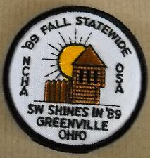 VINTAGE NCHA OSA 89 FALL STATEWIDE SW SHINES IN 89 GREENVILLE OHIO CLOTH PATCH