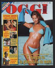 OGGI 33/2000 ALESSIA MERZ VALERIA MARINI ANNA FALCHI BRAD PITT JENNIFER ANISTON