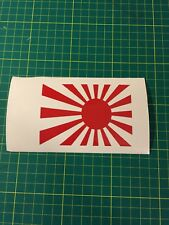 Japan flag rising sun sticker