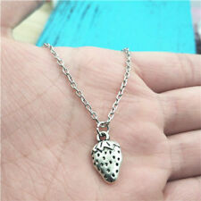Strawberry silver Necklace pendants fashion jewelry accessory,creative gifts