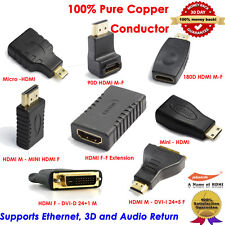 8Pack, Micro HDMI,Mini HDMI,HDMI to DVI Adapter HDMI Extension Coupler Converter