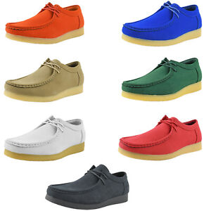 Amali Mens Casual Low Top Chukka Boots Designer Lace Up Suede Moc Toe Ankle Shoe