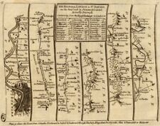 London Hammersmith Slough Maidenhead Henley Abingdon. KITCHIN road map 1767