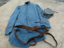 Original ww1 French Officer Grouping Hat Kepi Jacket Trouser's Belt Bleu Horizon