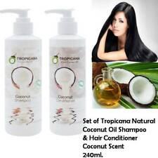 Set of Tropicana Cold Pressed Natural Coconut Oil Shampoo & Conditioner 240ml.