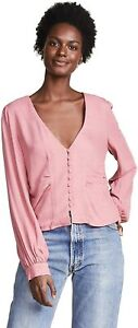 Free People Maisie Top Sz Small (UK 10 approx) Rose Pink
