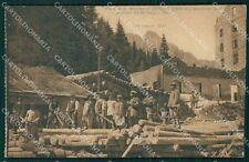 Trento Siror San Martino di Castrozza Militari cartolina QT4280