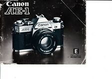 GENUINE ORIGINAL CANON CAMERA  AE-1 INSTRUCTIONS MANUAL
