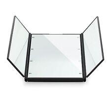 Tri-Folding Cosmetic Mirror 8 LED Lights Slim Travel Portable Compact Pocket