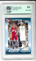 LeBron James & Carmelo Anthony 2004 Rookie Review RC card #92 PGI 10