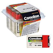 6 unidades Camelion Plus Alcalina 9v Batería de bloque 6lr61 6lf22 Baterías