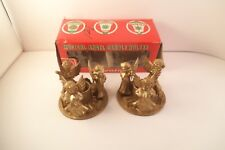 Vintage Pair of Musical Angel Plastic Candle Holders Christmas