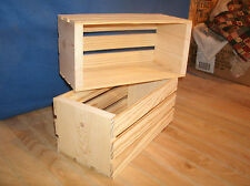 Medium wooden crate, medium wooden storage crate