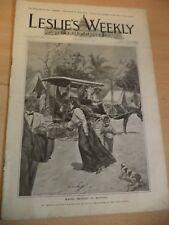 leslies weekly OLD ANTIQUE MAGAZINE may 1899 USA history news indiaman tondo cub