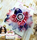 4th of July/Patriotic/stars and stripes hair bow handmade