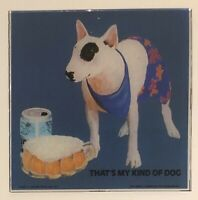 "Vintage SPUDS MACKENZIE Bud Light 6"" X 6"" Carnival Glass"