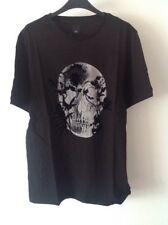 Bnwt Men's Size Large River Island Printed T Shirt Black Short Sleeve
