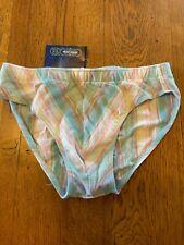 GERONIMO Mens Underwear Luxury 'Summer Stripe' Cotton Blend Briefs