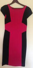 Metalicus Pink black Ponti wiggle Pencil dress - size 2 10 NWOT
