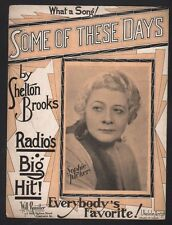 Some of These Days 1922 Sophie Tucker's Theme Song Sheet Music