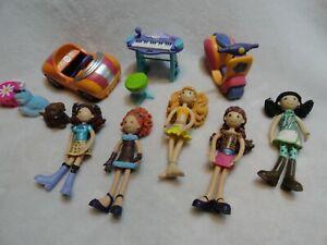 Groovy Girls Dolls Blair, Oki, Kenna, Brenna, Reese Car, Scooter, Piano, Dog Cat