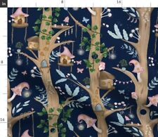 Fairy Forest Nature Woodland Home Tree Fantasy Spoonflower Fabric by the Yard