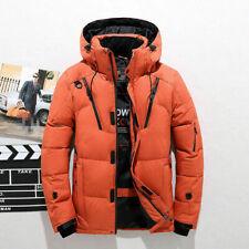 Men's Duck Down Jacket Ski Jacket Snow Hooded Coat Climbing Oversize L