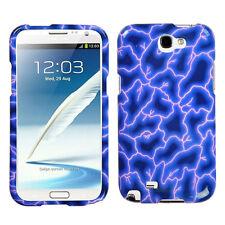 MYBAT Blue Lightning Phone case for SAMSUNG T889 (Galaxy Note II)
