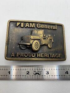 AMC Brass Belt Buckle. I Am General. Jeep Wrangler. Vintage