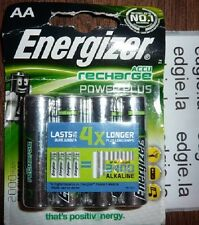 4 x ENERGIZER AA 2000 mAh Rechargeable Batteries Power Plus HR6 NiMH 4X Longer