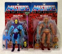 SUPER 7 MASTERS OF THE UNIVERSE (MOTU) ULTIMATES HE-MAN & SKELETOR WITH SHIPPER!