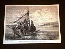 La pesca ed i pescatori nel 1889 Si carica la bestia sulla barca - Th. Weber