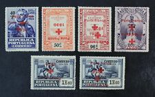 CKStamps: Worldwide Stamps Portugal Scott#1S24/1S29 Mint NH/H OG Inverted Ovpt