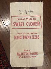 Vintage Feed Sack Bag Clover Seeds