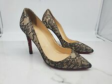 Christian Louboutin Womens Floral Mesh Heels Size 37.5 Made In Italy