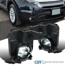 For 11-15 Ford Explorer Clear LED SMD Projector Fog Lights Driving Bumper Lamps
