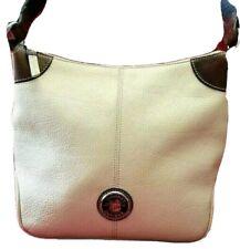AUTHENTIC DOONEY & BOURKE BONE WHITE PEBBLE LEATHER HOBO CROSSBODY BAG #H2600400