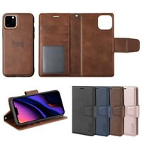 2in1 Luxury PU Leather Phone Bag For iPhone 11 Pro Max Flip Cover Magnetic Case