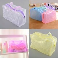 Travel Portable Makeup Bag Toiletry Bathing Pouch Transparent Case Water Gift~-