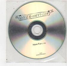 (FS301) Bleeding Knees Club, Have Fun - DJ CD