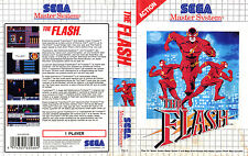 Le Flash Sega Master System Replacement Box Art Case Insert Cover SCAN