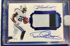 DERRICK HENRY 2016 FLAWLESS Rookie PATCH RC Momentous BOLD On Card Auto /5