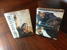Braveheart + Gladiator Steelbook (4K Uhd+Blu-ray-No Digital) Free Box Shipping